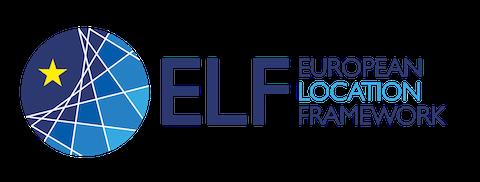 Logo Projektu ELF Niebieska kóla z żółtą gwiazdką  po lewej stronie po prawej nazwa projektu