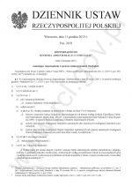 Pierwsza strona nowelizacji rozporządzenia w sprawie egib. Widoczny tytuł Dziennik ustaw oraz tres rozporządzenia opisanego w tekście