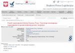 Ilustracja przedstawia zrzut z ekranu z wyświetloną stroną Rządowego Centrum Legislacji ukazującą Projekt rozporządzenia Ministra Rozwoju, Pracy i Technologii zmieniającego rozporządzenie w sprawie ewidencji gruntów i budynków