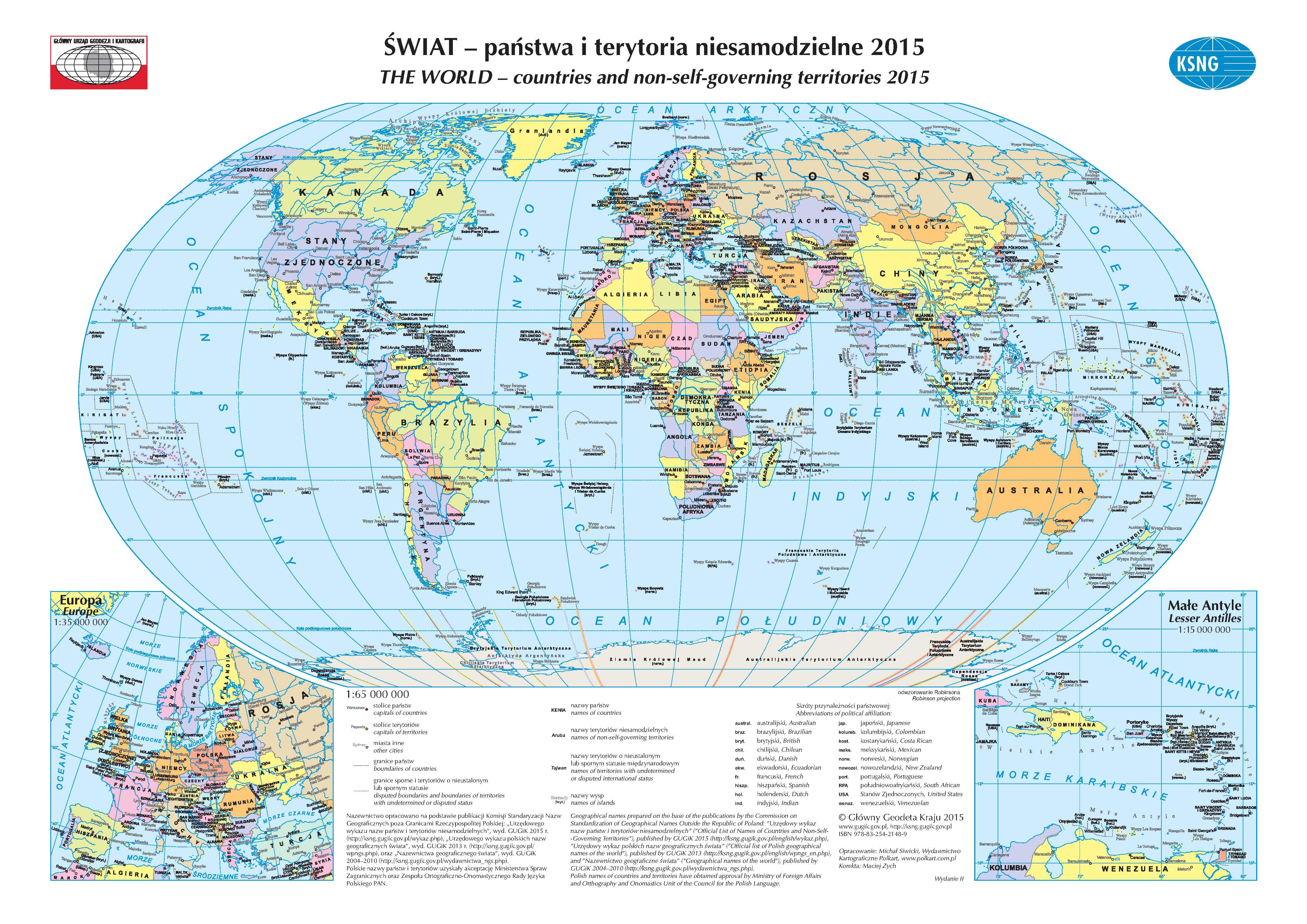 Nowe Wydanie Urzedowego Wykazu Nazw Panstw Glowny Urzad Geodezji