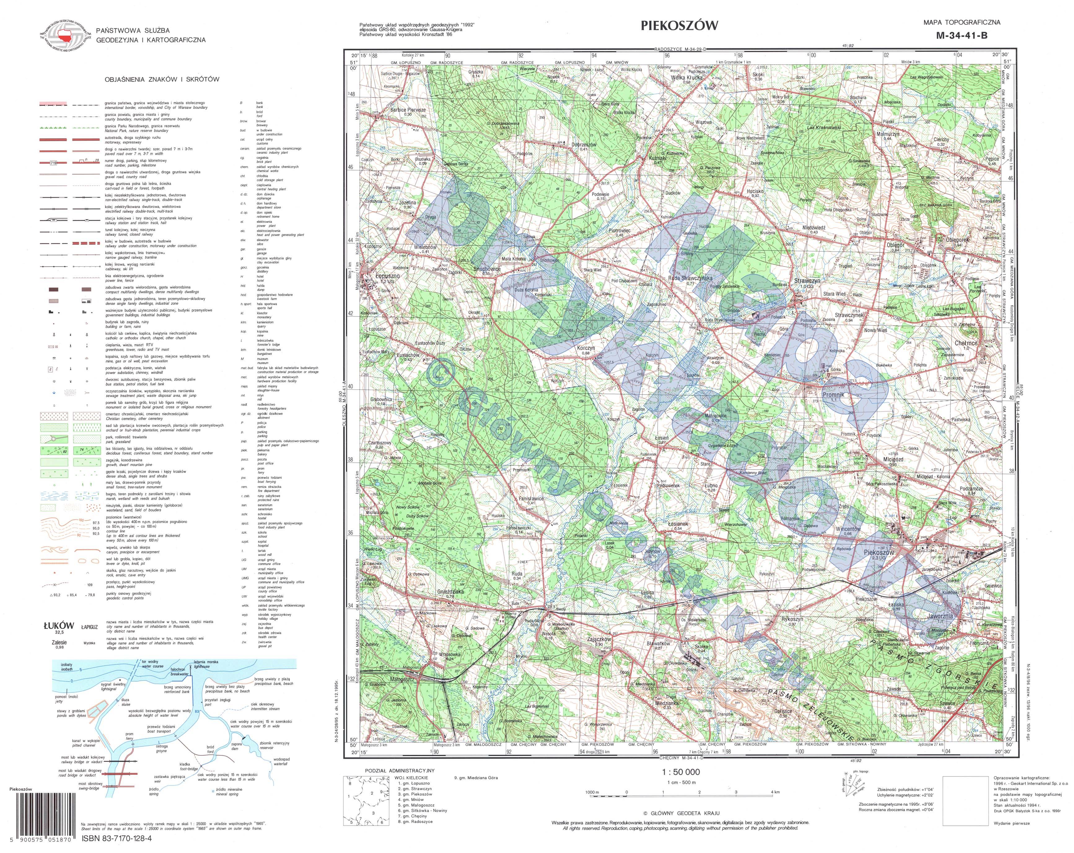 Mapy Topograficzne Glowny Urzad Geodezji I Kartografii