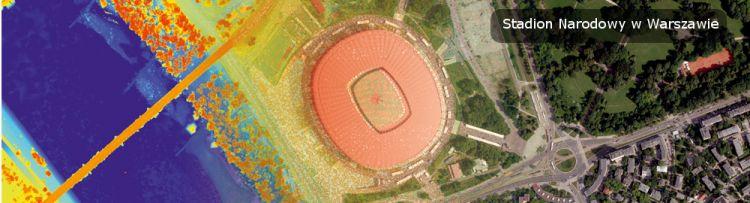 Przykładowy produkt projektu ISOK prezentujący Stadion Narodowy w Warszawie
