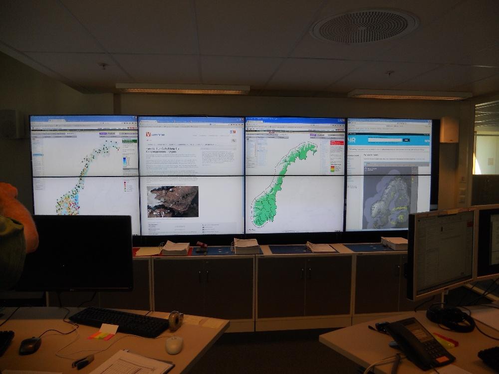 Foto. 4. Centrum monitoringu sytuacji hydrologicznej w Norwegii, Norges vassdrags-og energidirektorat, Oslo
