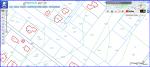 Ilustracja przedstawia zrzut z ekranu serwisu geoportal.gov.pl z wycinkiem mapy ukazującej dane ewidencji gruntów i budynków z uwidocznionymi numerami działek oraz ich granicami, granicami użytków i konturami klasyfikacyjnymi wraz z oznaczeniem oraz konturami budynków z opisem w postaci oznaczenia literowego odpowiadającego funkcji budynków i cyfry oznaczającymi liczbę kondygnacji nadziemnych.