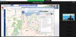 Zrzut ekranu z aplikacji ZOOM (programu do prowadzenia telekonferencji). Po lewej stronie zrzut ekranu ze strony geoportal.gov.pl przedstawiający mapę Polski. Po prawej stronie zdjęcie Głównego Geodety kraju dr. hab. inż. Waldemara  Izdebskiego