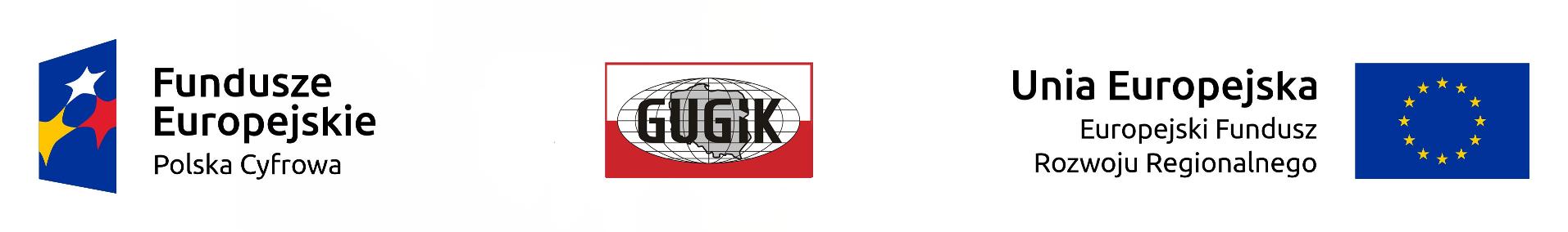 Logotypu UE, POPC oraz GUGiK