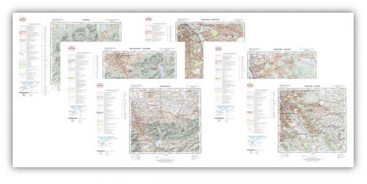 Wybrane arkusze map topograficznych nowej generacji