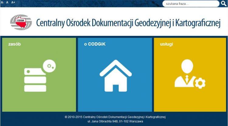 zrzut strony www.codgik.gov.pl