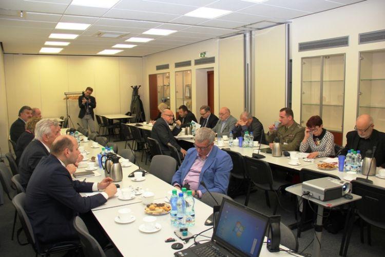 Uczestnicy posiedzenia PRGiK.