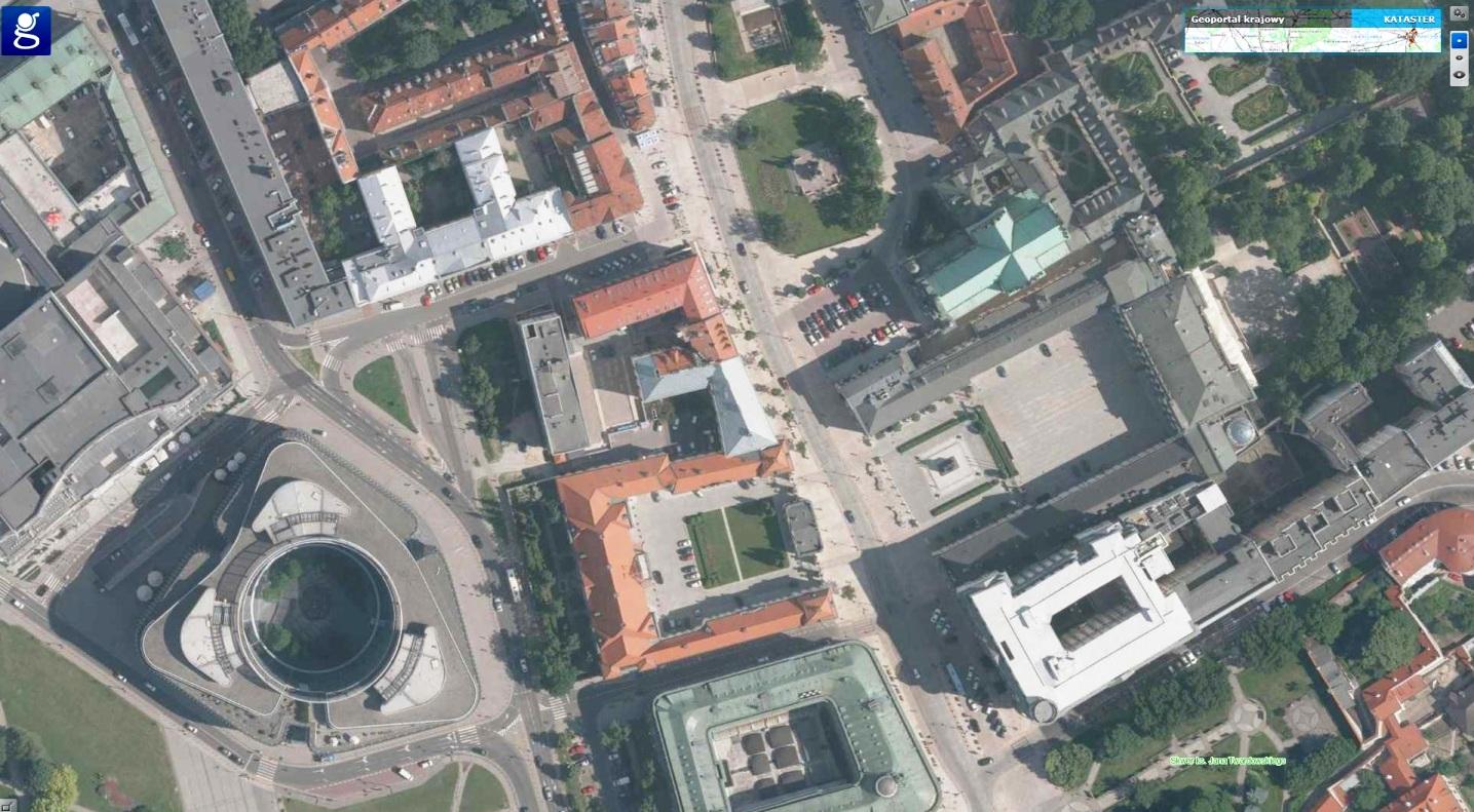 Ortofotomapa Warszawa- źródło Geoportal.gov.pl