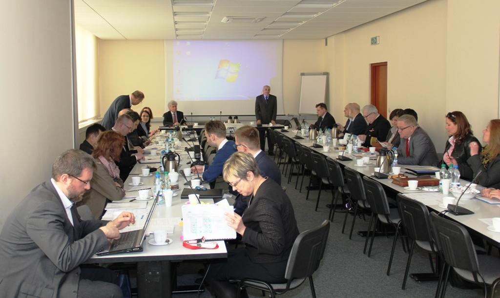 Otwarcie posiedzenia Rady IIP za stpłem prezydialnym Główny Geodeta Kraju oraz prof. Jerzy Gaździcki, przewodniczący Rady IIP