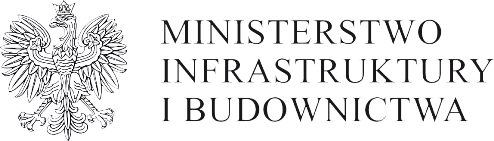 Logotyp MIB - Orzeł oraz nazwa Ministerstwo Infrastruktury i Budownictwa