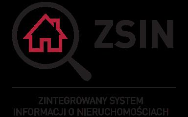 Logotyp projektu ZSIN przedsatwia po klewej stronie oraz skrót nazyw projektu pisany czarną czcionką, wielkie litery po prawej
