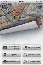Ekran starowy aplikacji mobilnej dla systemu iOS